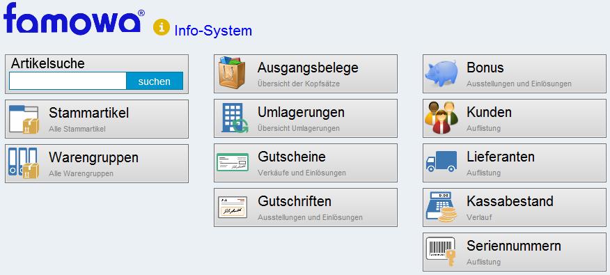 Info-System Uebersicht